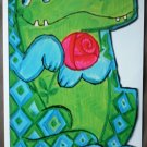 Crocodile Alligator Get Well Card Hallmark Fancifuls Vintage Greeting