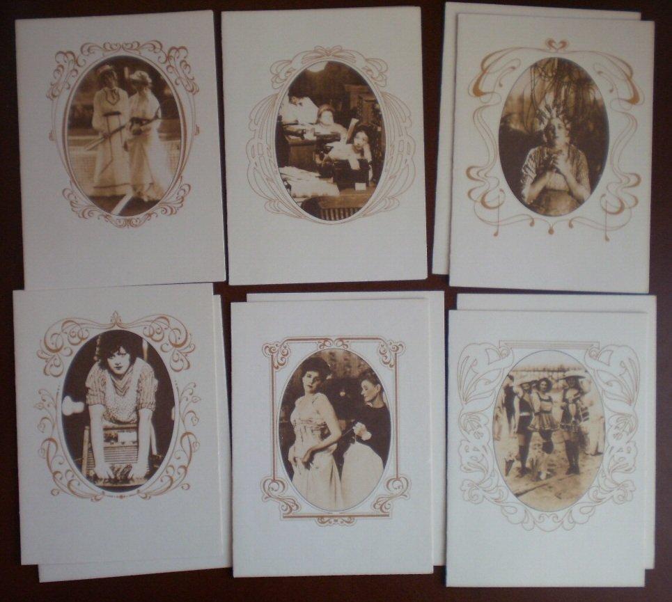 Virginia Slims Collection Note Cards Blank Sepia Photos Lot 10