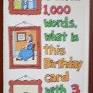 Birthday Card Vintage Amberley Greeting Hi 1982 Picture 1000 Words