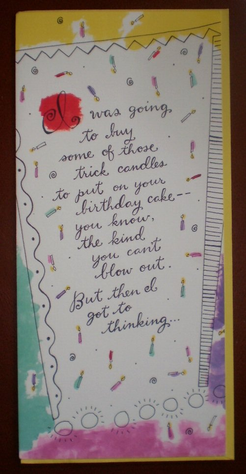 Birthday Card Trick Candles Cake Hallmark Contemporary Greeting