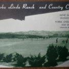 Vintage Golf Scorecard Yorba Linda Ranch Country Club Gene Davis score card