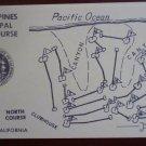 Vintage Golf Scorecard Torrey Pines Municipal Course San Diego yellow score card