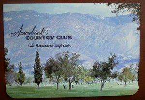 Vintage Golf Scorecard Arrowhead Country Club San Bernardino CA score card