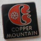 Copper Mountain Ski Resort Pin Colorado Vintage Enamel silvertone Metal