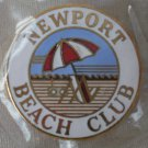 Newport Beach Club Pin California Pinnacle Designs Enamel Goldtone Metal
