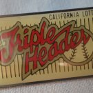 California Lottery Triple Header Pin Enamel Silvertone  Metal State