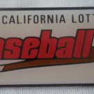 California Lottery Baseball Pin Enamel Jonathan Grey Silvertone Metal State