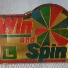 California Lottery Win and Spin Pin Enamel Goldtone Metal State