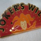 California Lottery Joker's Wild Pin Enamel Goldtone Metal State
