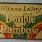 California Lottery Double Rainbow Pin Enamel Goldtone Metal State