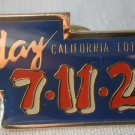 California Lottery Play 7 11 21 Blue Pin Enamel Goldtone Metal State