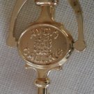 Avon Calling Door Knocker Pin Vintage Goldtone Metal
