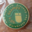 USPS Pin Celebrate the Century 90's Stamps Green Enamel Goldtone Metal