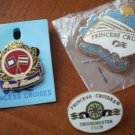 Princess Cruises Lot 3 Pins Love Boat Royal Princess Cruisemaster Club