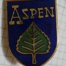 Aspen Pin Ski Resort Colorado Enamel Goldtone Metal Vintage