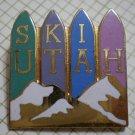 Ski Utah Pin Enamel Goldtone Metal Vintage GMWS Resort