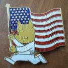 Olympics Pin 36 USC 380 American Flag Enamel Goldtone Metal Ho Ho NYC