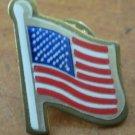 American Flag USA Pin Union Made Vintage Goldtone Metal