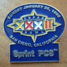 Super Bowl XXXII Pin 1998 San Diego CA Sprint PCS 32
