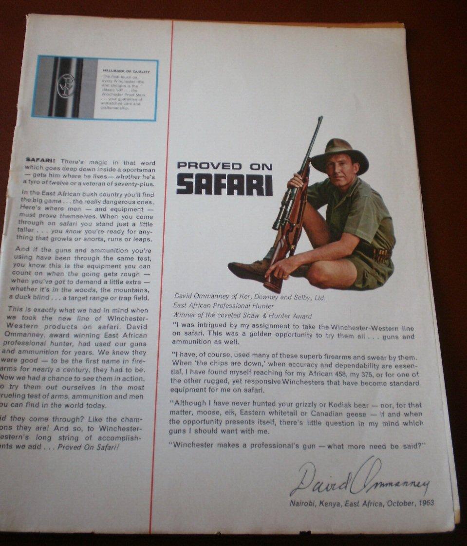 Winchester Western Catalog 1963 Safari Missing Cover