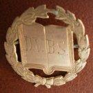 Vintage Pin DBVS Open Book Laurel Wreath Goldtone Metal Trade Mark