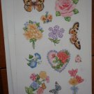 Butterflies Roses Stickers Current 22308-3 Lot 4 sheets Flowers Butterfly Vintage