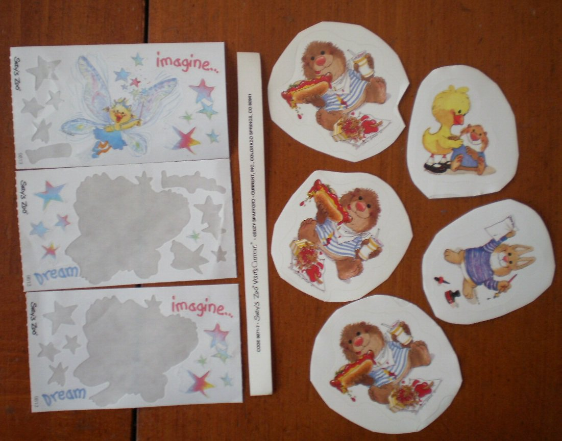 Suzy's Zoo Stickers Current Small Lot Bear Chick Rabbit Fairy