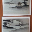 Mt Fuji Vintage Note Cards Wood Veneer Paper Lot 2 Landscape