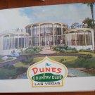 Vintage Golf Scorecard Dunes Country Club Las Vegas NV Emerald Green