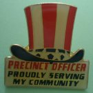Election Pin Precinct Officer Primary 1993 Enamel Goldtone