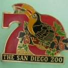San Diego Zoo 70th year Flamingo Enamel Goldtone Metal