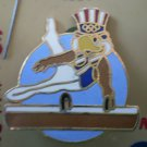 Pommel Horse Pin Sam Olympic Eagle 1984 Cloissone Goldtone Metal