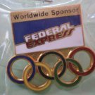 Federal Express Olympics Pin Worldwide Sponsor Goldtone Metal