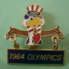 Sam Eagle 1984 Olympics Los Angeles Mascot Enamel Goldtone Metal