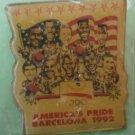 America's Pride Olympics Pin Barcelona 92 Basketball Enamel Goldtone Metal