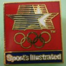 Sports Illustrated Olympics Pin Stars Enamel Goldtone Metal