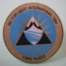 Olympics Pin Ski for Light International Lake Placid Goldtone Metal