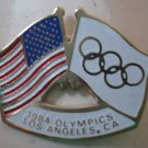 Olympics Pin 1984 Los Angeles Flags Goldtone Metal