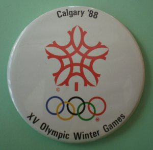 XV Olympics Mirror Winter Games Calgary 1988 Compact 2.5in