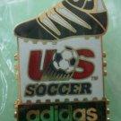 Adidas Questra US Soccer Pin 1991 Goldtone Metal McGillvray Sponsor