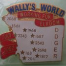 Wally's World Pin Working for Elkdom 2002 Goldtone Metal