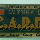 Giant Care Pin Grocery Employee Pinback License Plate Customers Are Really Everything