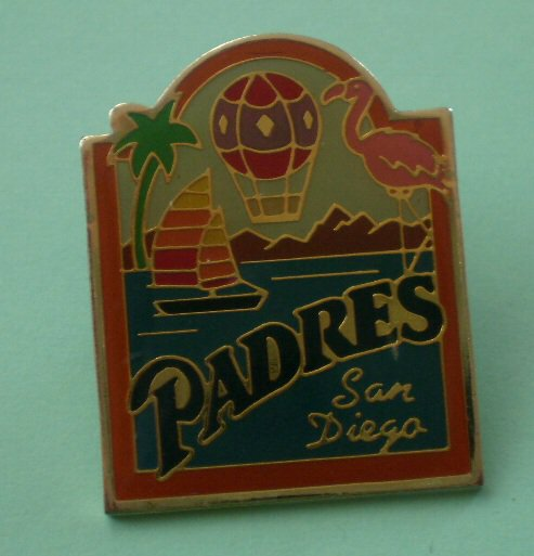 San Diego Padres Pin 1991 Peter David Enamel Goldtone Metal