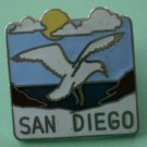 San Diego Seagull Pin Silvertone Metal Bird Sea Gull