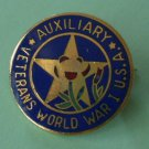 Veterans World War 1 Pin Auxiliary Goldtone Metal