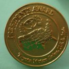 Toyota President's Award Pin Motor Sales Goldtone Metal