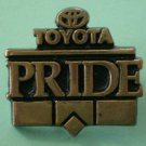 Toyota Pride Pin Goldtone Metal