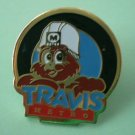 Travis Metro Owl Pin Goldtone Metal