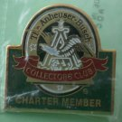 Anheuser Busch Pin Collectors Club Charter Member