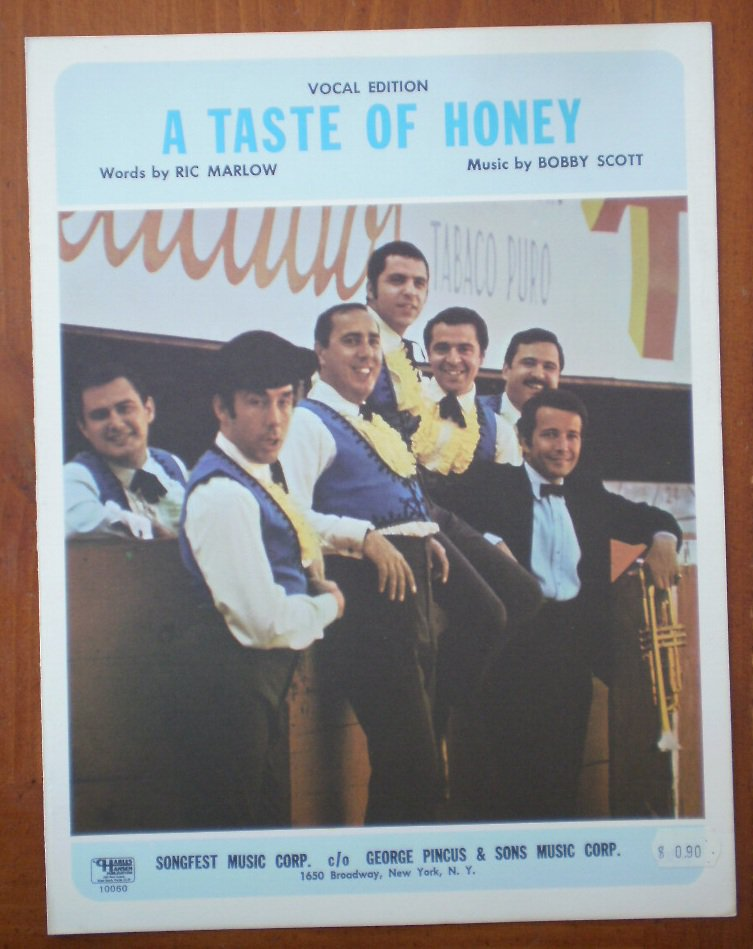 A Taste of Hony Sheet Music Vocal Edition Ric Marlow Bobby Scott